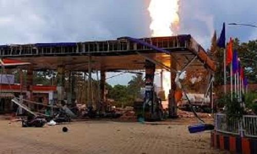 Bhubaneswar petrol pump blast