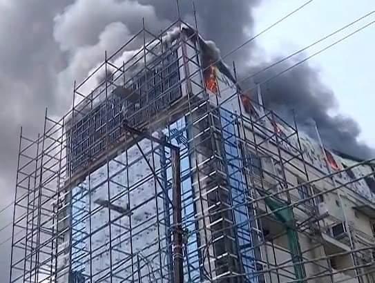 fire at private hospital in Cuttack