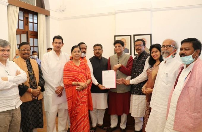 BJP MPs meet Piyush Goyal