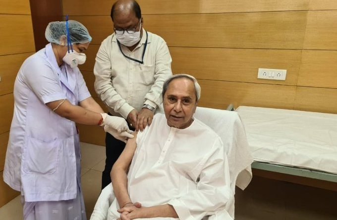 Naveen takes first dose of COVID-19 vaccine