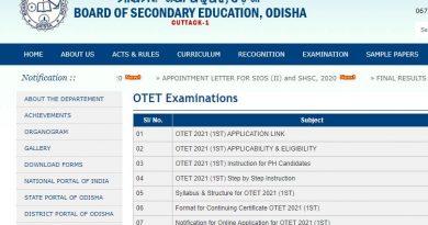 OTET exam 2021