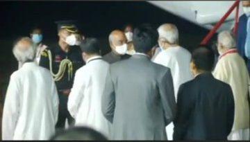 Ram Nath Kovind arrives in Bhubaneswar