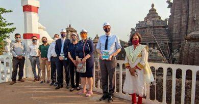 French delegation in Bhubaneswar
