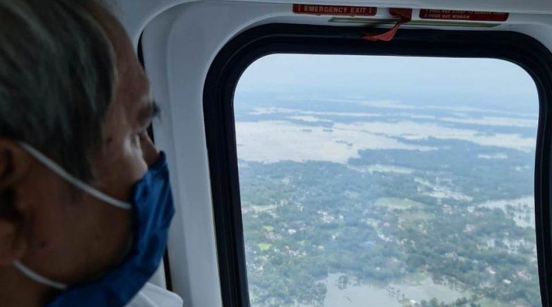 Aerial survey of cyclone Yaas hit areas