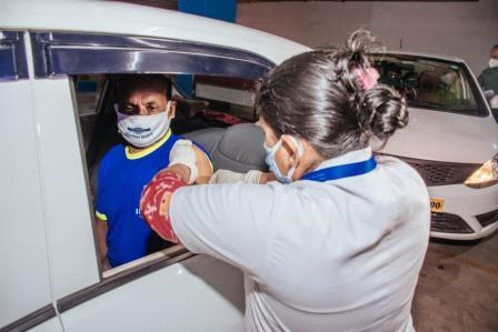 Drive in Vaccination kick starts in Bhubaneswar
