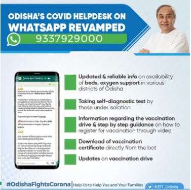 Odisha govt's COVID-19 WhatsApp helpline