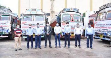 AM/NS India oxygen cylinders to Odisha