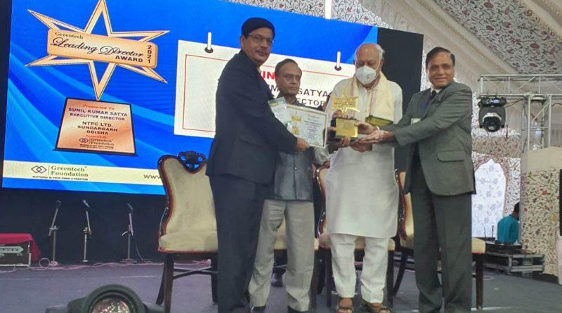 Sunil Kumar Satya receives Greentech Leading Director Award