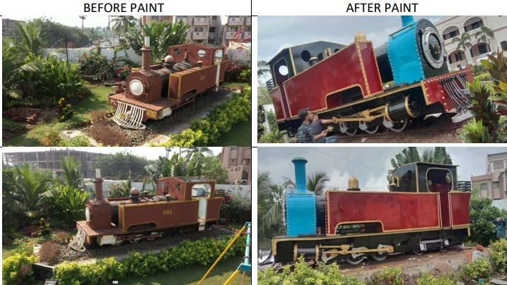 Century-old heritage steam loco in Puri