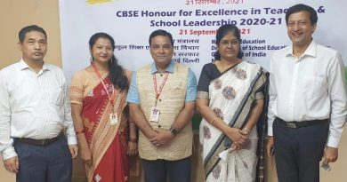 CBSE honour for excellence in teaching