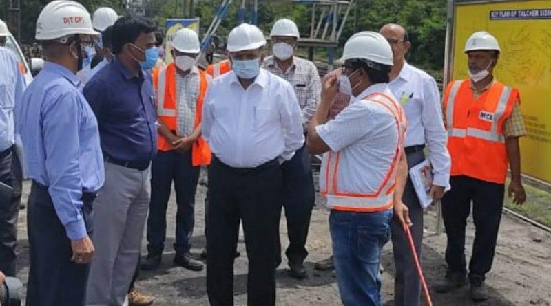 MCL CMD visits Talcher mines