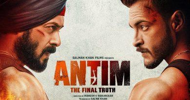 Salman Khan, Aayush Sharma's 'Antim' poster out
